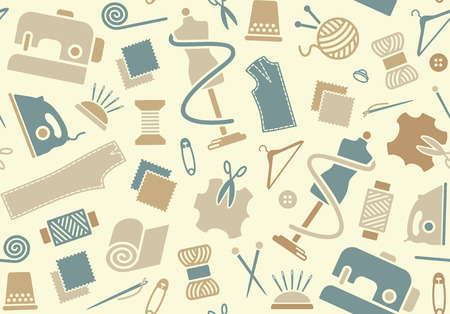 tailoring: Sewing and needlework background Illustration