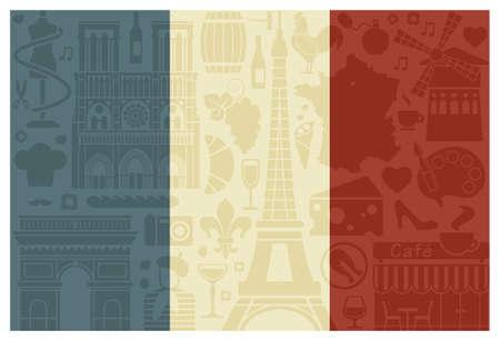 montmartre: Flag of France Illustration