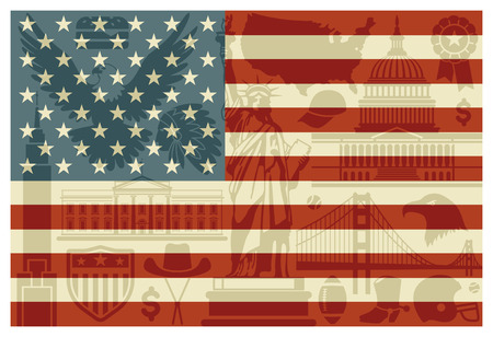 Flag of USA Vector