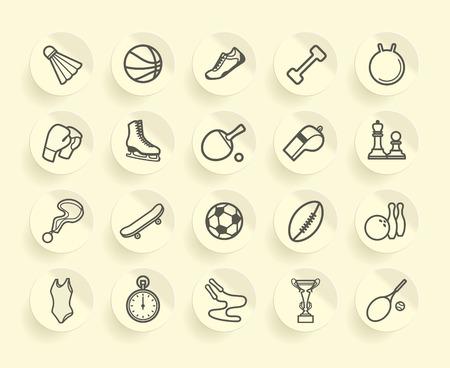 Sports icons Illustration