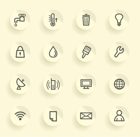 waterpipe: Utilities icons