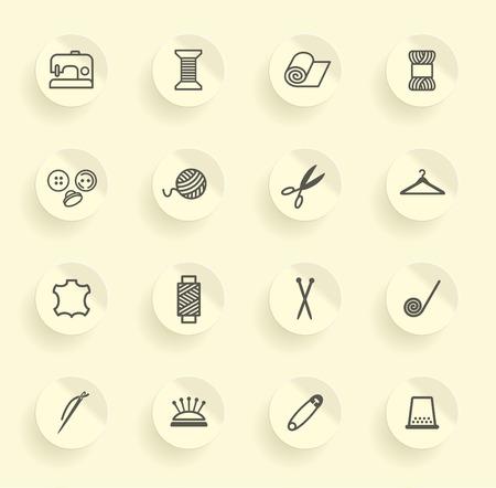 Szycie i robótki ikony