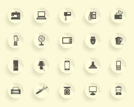 epilator: Home appliances icons