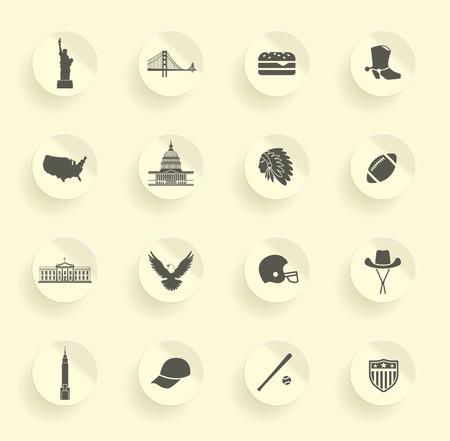 Symbols of the USA Illustration