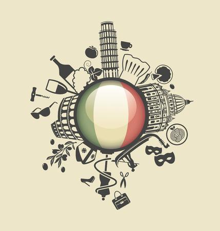 wines: Symbol of Italy Illustration