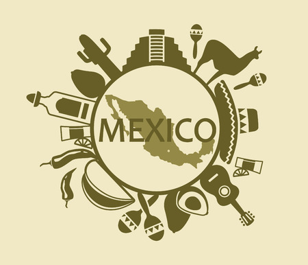 mexico map: Symbols of Mexico