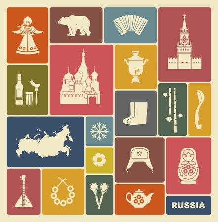 russian culture: Russian icons Illustration