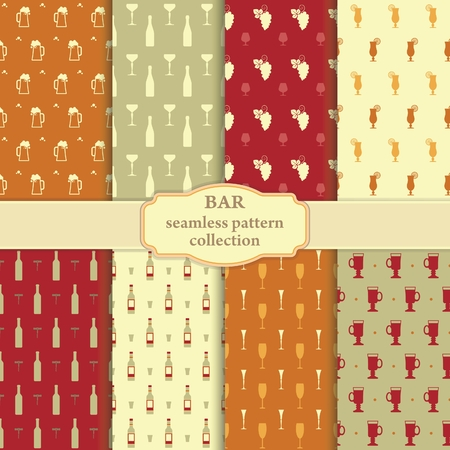 bunchy: Collection of seamless backgrounds on a theme a bar
