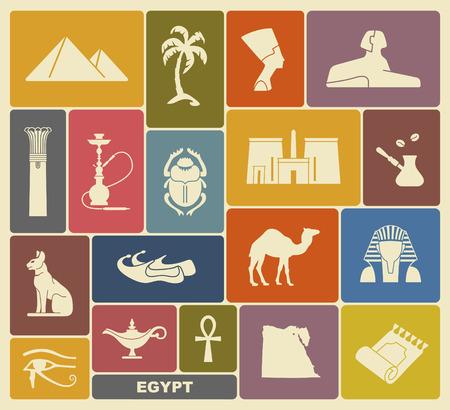 pyramid egypt: Egyptian symbols