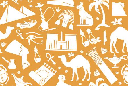 ancient civilization: Egyptian seamless background Illustration