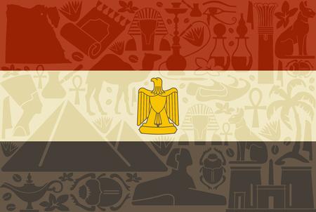 cat goddess: Flag of Egypt