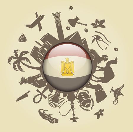 ancient civilization: Symbol of Egypt Illustration