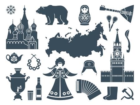 Russian icons Illustration