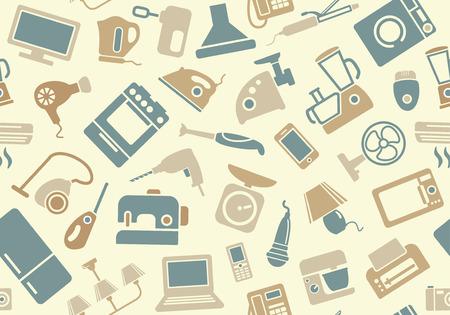 家電製品のシームレス パターン