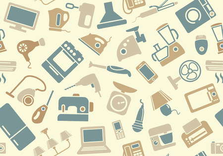 Seamless pattern of household appliances