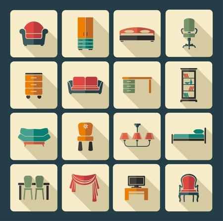 home furniture: Furniture icon set