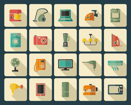 appliances: Home appliances Illustration