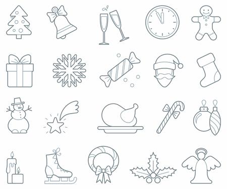 christmas cracker: Christmas icons