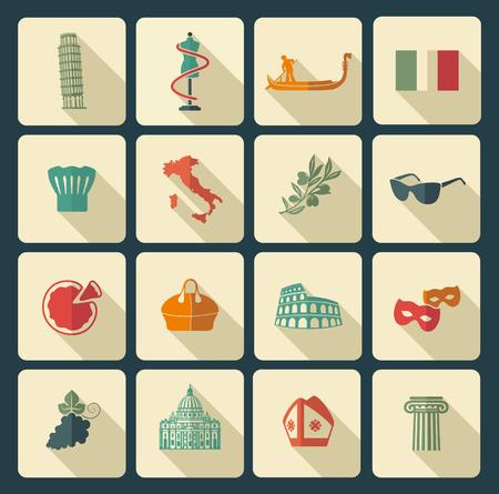 monumento: símbolos tradicionales de Italia
