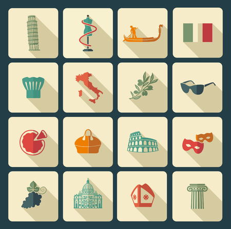 monuments: Traditional symbols of Italy Illustration
