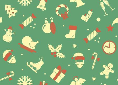 christmas cracker: Seamless Christmas background Illustration