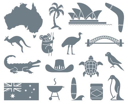 オーストラリアのアイコン  イラスト・ベクター素材