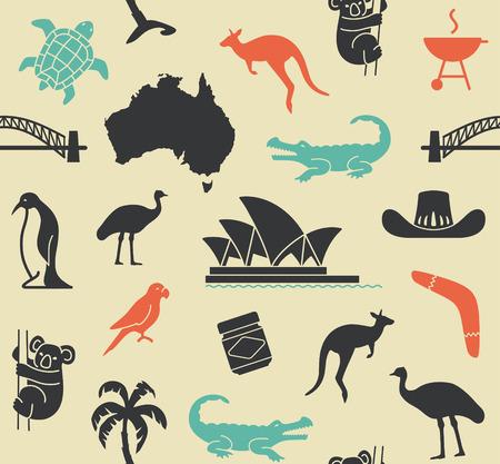 australian ethnicity: Australian seamless pattern