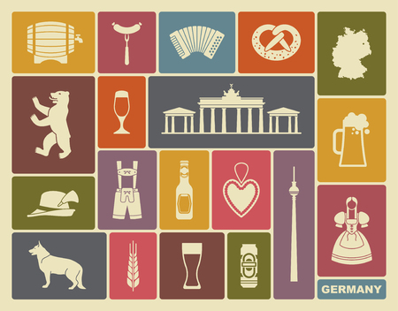 germany: Traditional symbols of culture, architecture and cuisine of Germany