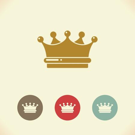 principe: Simbolo della corona reale. Illustrazione Vettoriali