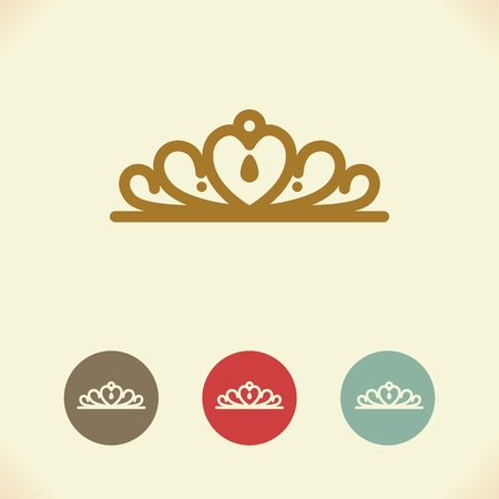 royal person: Vector symbol of the Royal crown. Illustration