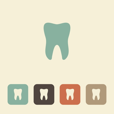 smiles teeth: Simple vector icon silhouette of a tooth Illustration