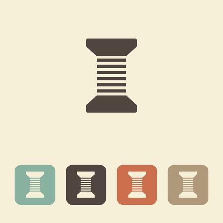 Vector icon of a spool of thread. Illustration Иллюстрация