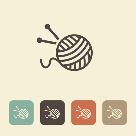 skein: The symbol of knitting and needlework. A ball of yarn and knitting needles