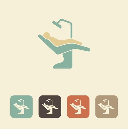 Dental-Symbol. Vektor-Illustration Zahn Stuhl Symbol