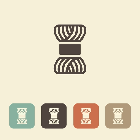 A symbol of needlework and knitting. A skein of yarn. Иллюстрация