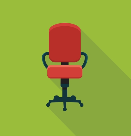 empty chair: The office chair. Flat icon. Symbol