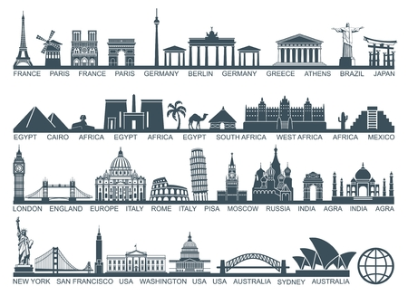 monuments: Icon architectural monuments and world tourist attractions