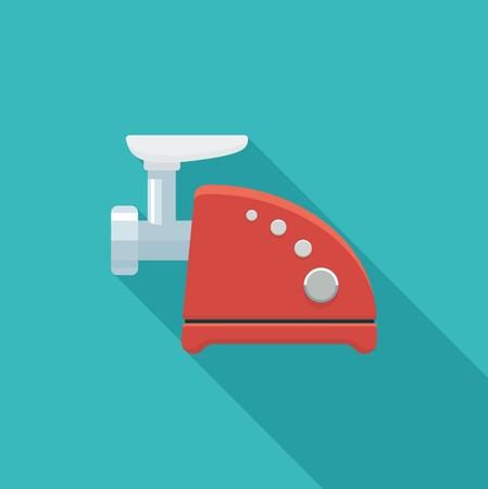 mincer: Color flat icon meat grinder.