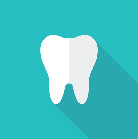 Simple vector icon silhouette of a tooth Illustration