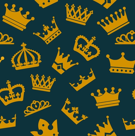 royal person: Seamless pattern with crowns. Vector illustration for kings Illustration