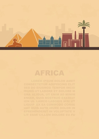 The layout of the leaflets with the sights Africa and place for text