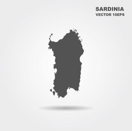 Map Of Sardinia. Italy. Vector illustration