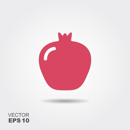 ripe: Isolated simple vector flat icon garnet with shadow