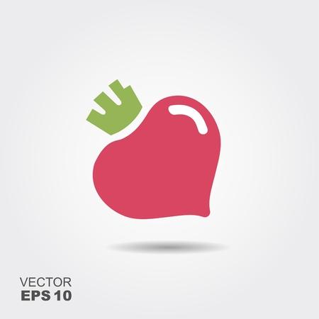 Beet vegetable logo icon template design. Simple flat design beetroot symbol. Stock fotó - 83484855