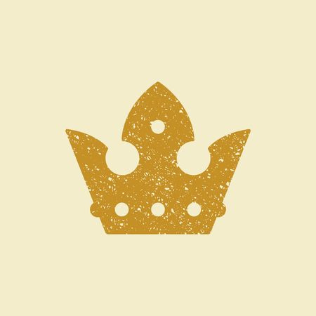 Crown icon. Vector Illustration Illustration
