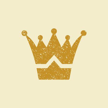Crown icon. Vector Illustration Illustration