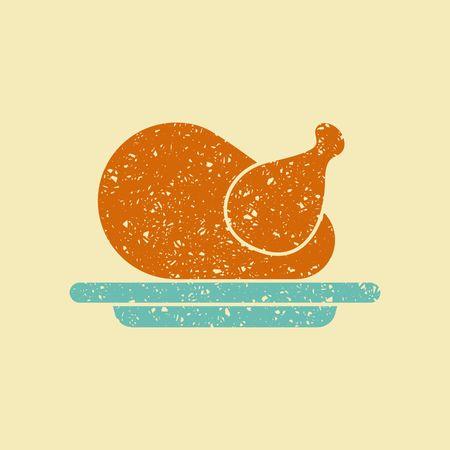 Stylized image of holiday turkeys Illustration