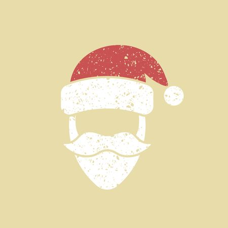 Santa claus hat and beard template christmas retro card royalty santa claus hat and beard template christmas retro card stock vector 89203616 maxwellsz