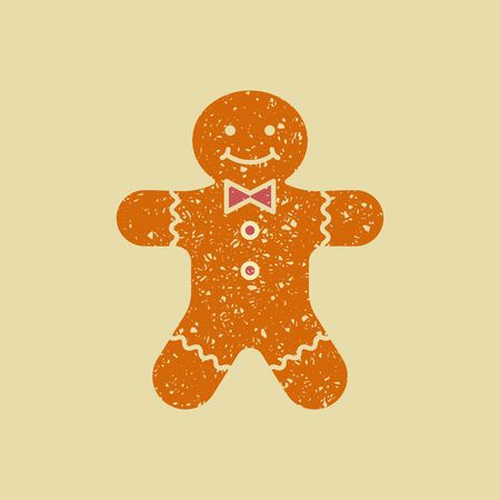 Christmas ginger cookies. The gingerbread man. Vector stylized drawing pencil Illustration