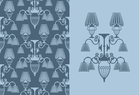Seamless background with lamps